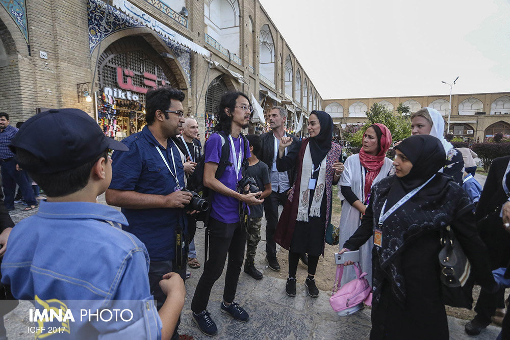 Foreign guests of ICFF on a walking tour in Isfahan