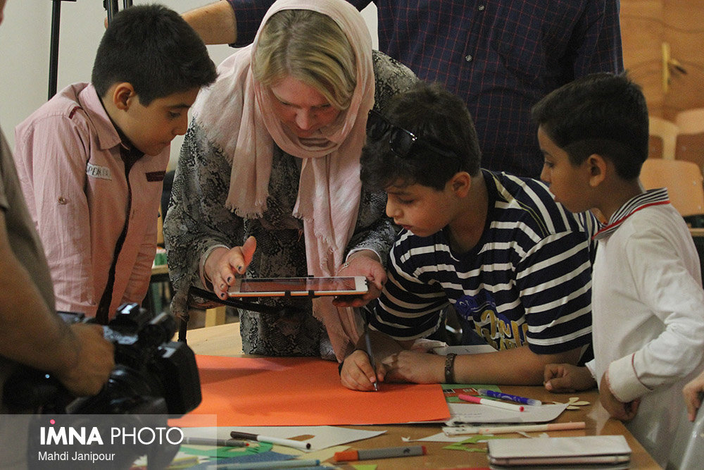 Stop motion workshop for kids at central library/ Isfahan