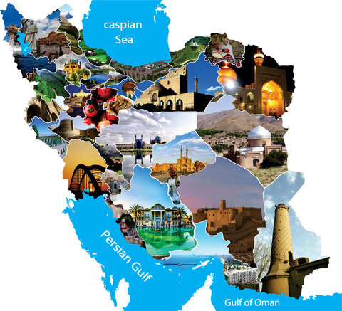 Iran tourist map