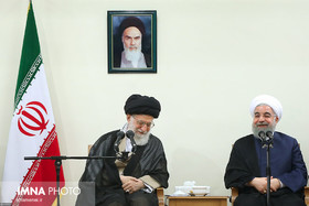 Rouhani and his cabinet members meet Supreme Leader