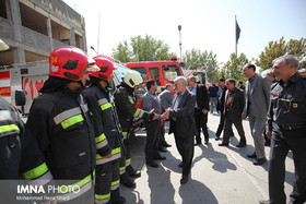 Isfahan Councilors visit fire Department Staff