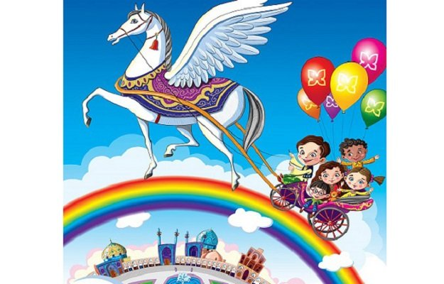 Isfahani horse takes children's wishes to sky!