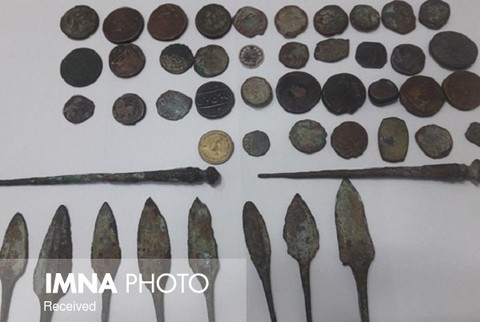 Historical coins seized in Isfahan