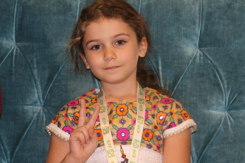 Lebanese Child jury member happy upon arrival in Iran