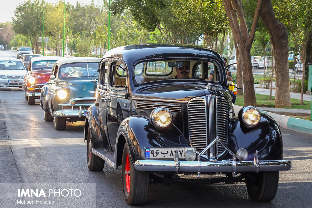 Classic Car Parade in Isfahan