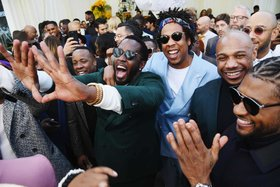 Diddy, Jay-Z and Usher attend a Roc Nation event before the Grammys