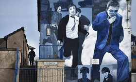 A Bloody Sunday mural at Free Derry Corner.