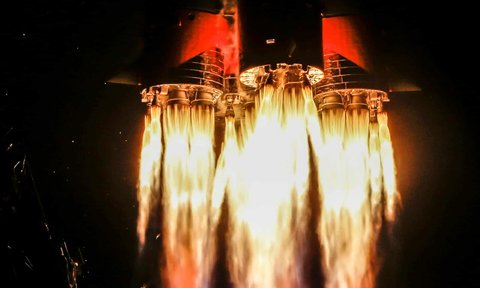 Blast off of the Soyuz MS-12 spacecraft on it's mission to the International Space Station.