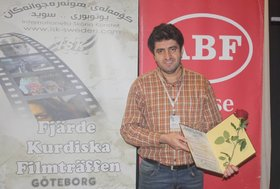 Mansour Jahani Received Journalism Award of Göteborg Fine Arts Association