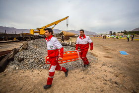 Relief and rescue maneuver of Isfahan's train staff
