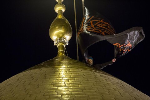Black flag hoisted over holy shrine of Imam Hussain