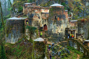 Enchanting fortress in heart of dense jungle