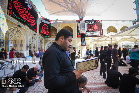 Imam Ali holy shrine full of Arba'een pilgrims