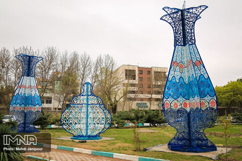 Isfahan's urban installations in new year