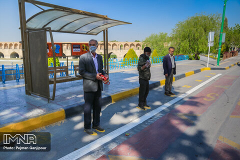 Social distancing practiced in Isfahan's transportation systems