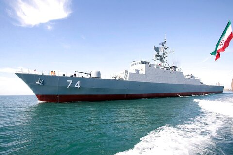 Iranian warship mistakenly hit during naval drills